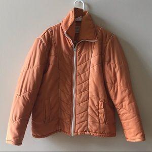 Orange Vintage Puffer Jacket